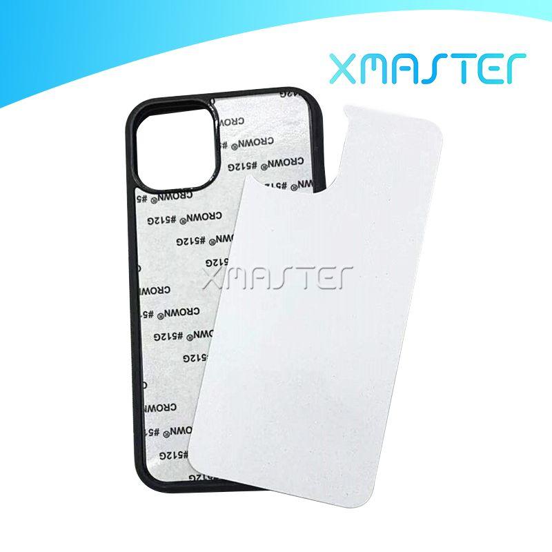 TPU + PC Boş 2D Süblimasyon Isı Transferi Telefon Kılıfları Ile Alüminyum Ekler Ile Iphone 13 12 Pro Max 11 XR 8 Artı Samsung S21 Ultra Xmaster
