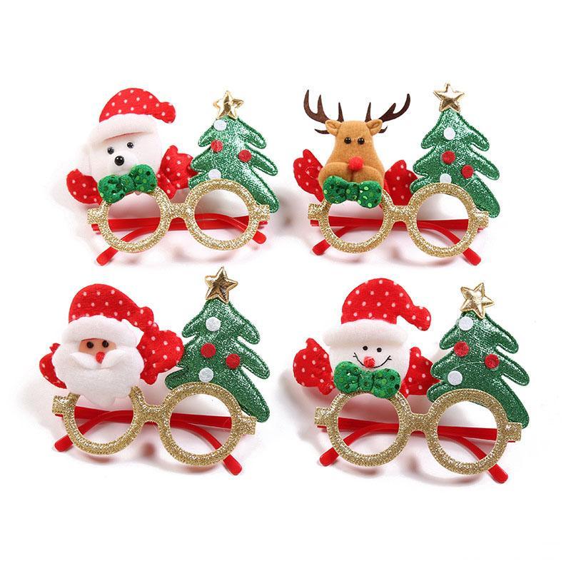 Party Funse Рождество Санта-Клаус Снеговик Лось Элакс Очки Кадр Игрушки Год Подары Подарки для взрослого ребенка Рождественские реквизиты