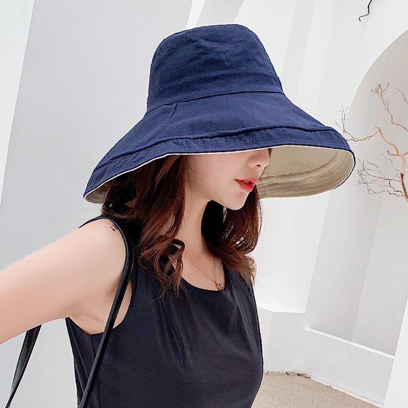 Mode Frauen Bucket Hat Caps Fischer Sun Visor Floppy Cap Urlaub Wide Brim faltbare Sonnenschutzkappen