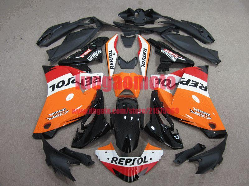 ABS Injection red orange white Motorcycle Fairings Kit Fit For Cbr250rr CBR250RR 11 12 13 14 2011 2012 2013 2014 Bodywork Set cowlings Gifts