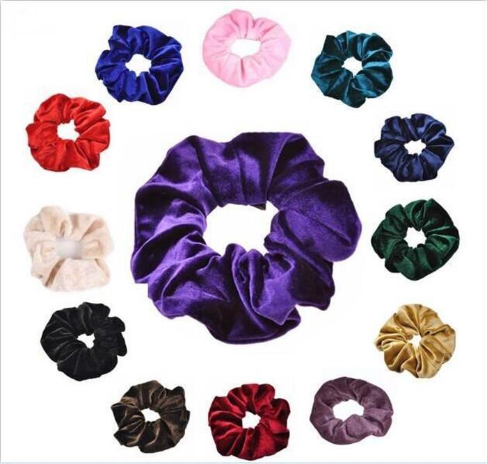 Cgjxs femmes Polyester velours élastique cheveux Chouchou Ponytail Donut Grip Boucle Holder Bijoux cheveux Élastique