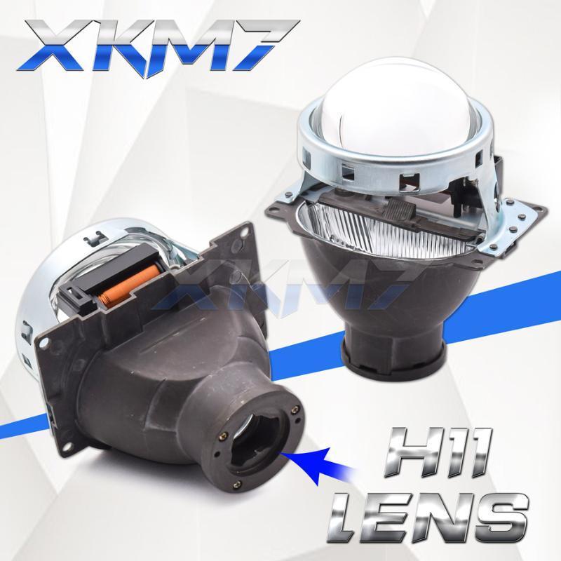 Bi-xénon Objectif Koito Q5 H11 LED HID Ampoule 3.0 pouces Objectifs Projecteur phares Kit complet métal Lampes de voiture Accessoires Replace Tuning