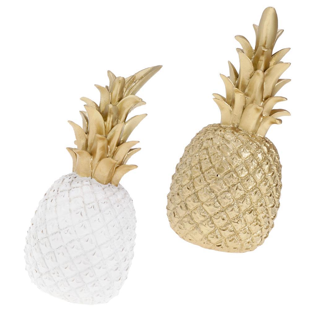 2pcs Creative résine d'ananas en forme de cadeau Ornement Accueil bureau Décoration