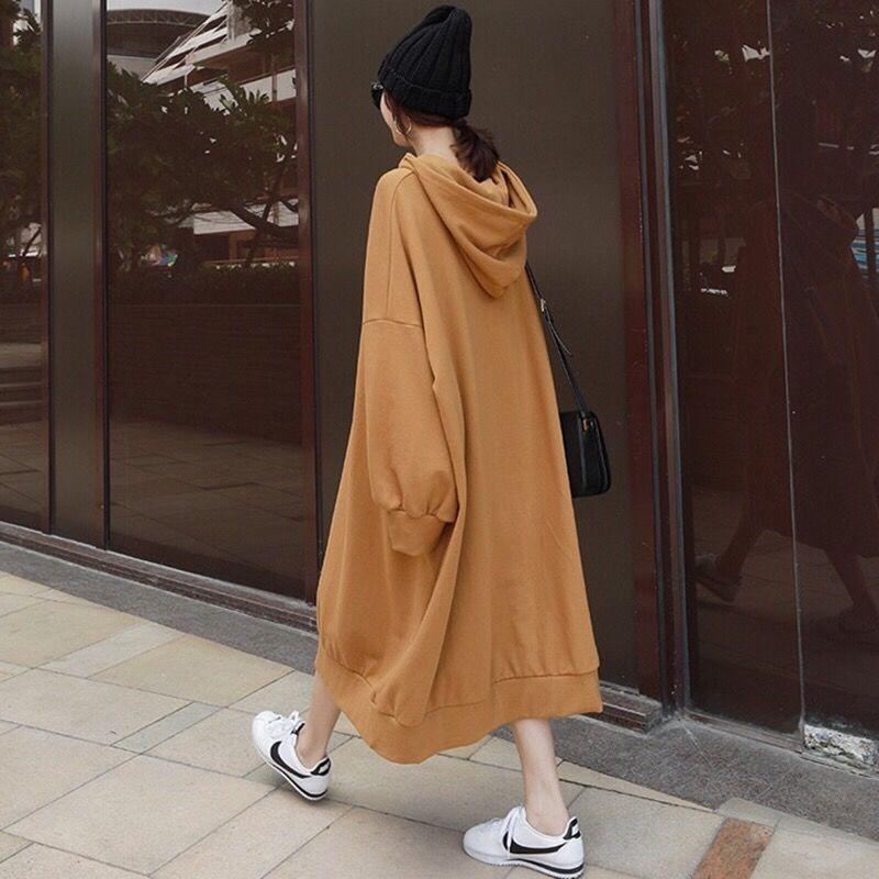 20200909 Autunno nuovo vestito sottile con cappuccio