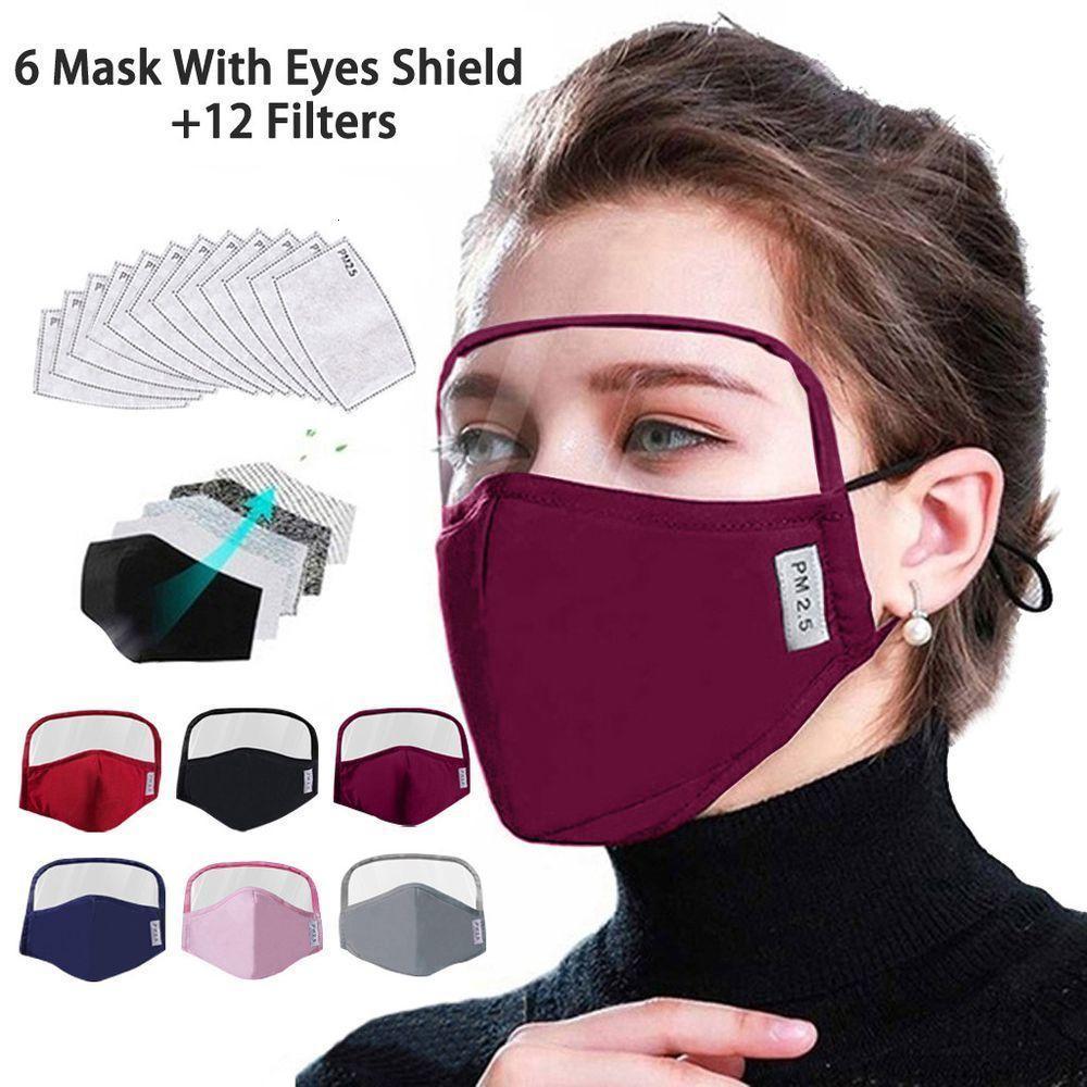 Außenschutzgesichtsmaske mit Erwachsener Augen Schild 6 Masken + 12 Filter