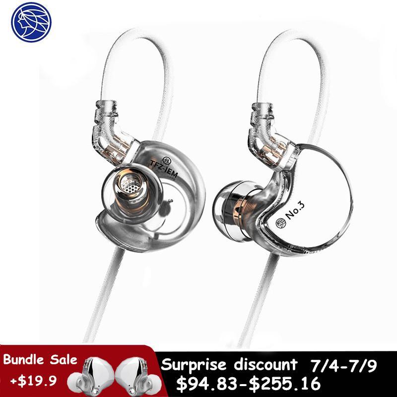 TFZ n.3 in-ear driver dinamico Super Bass cancellazione del rumore cuffie Dj Stereo Headset 0,78 millimetri cavo staccabile 2Pin
