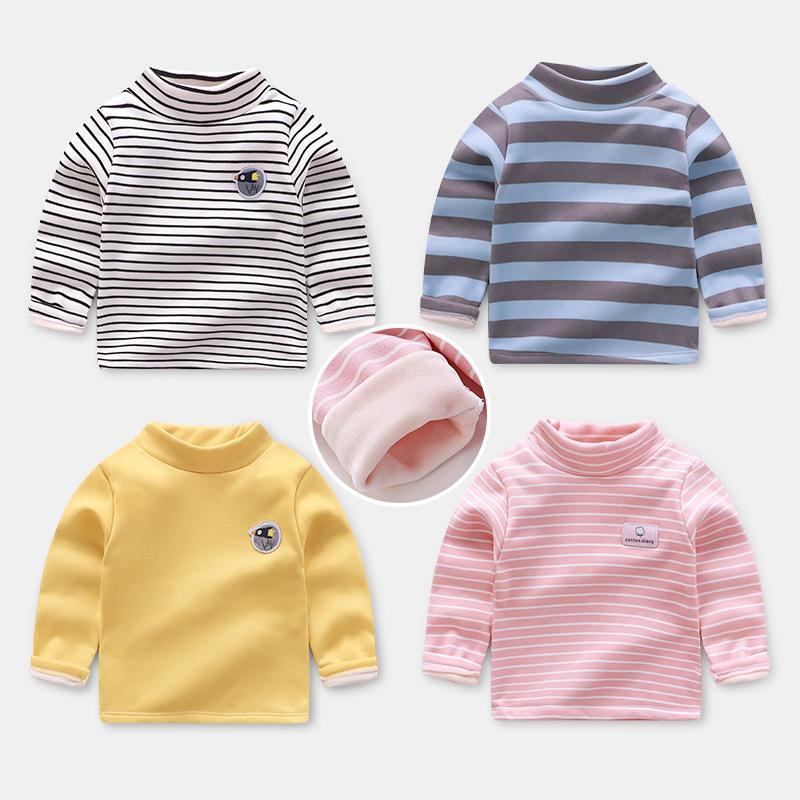 Baby-Pullover Kinder Häschen-Druck-Mädchen-Jungen-Kleidung plus Samt Nettes Kleinkind-Mädchen-Kleidung stellte Oullovers 1-12T Oberbekleidung