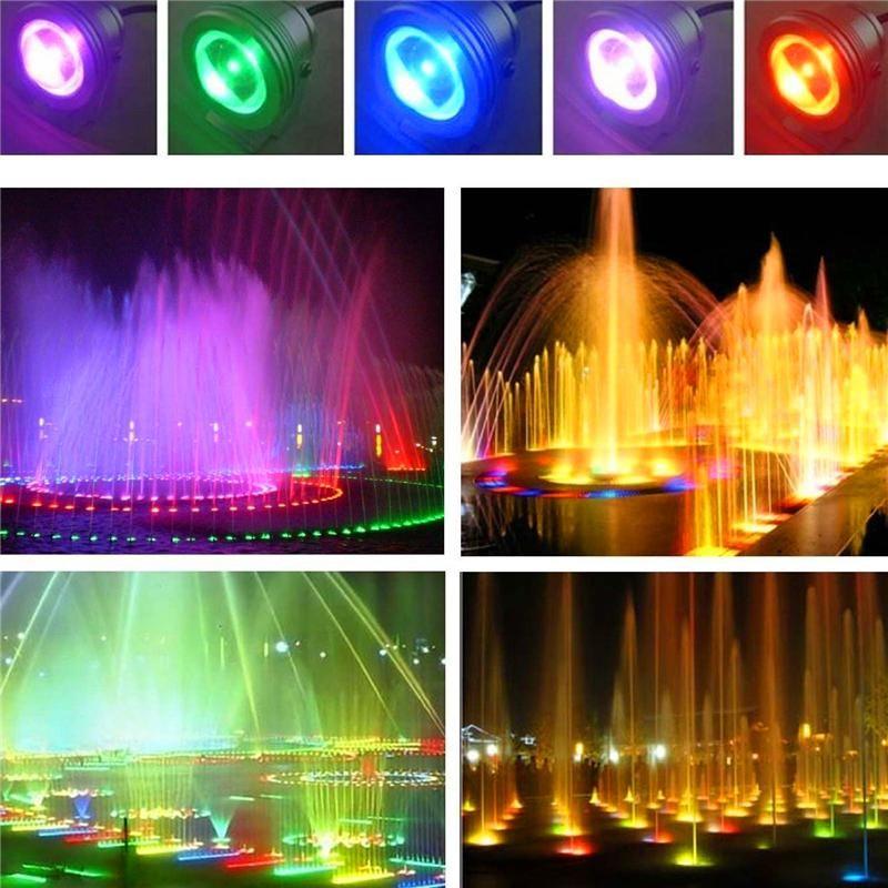 Cgjxs 10w 1000lm Led Altında Su RGB Isınma Beyaz / Beyaz Led Gölet Havuz Spot Işık 12v 24v Işıklar 12v Led Sualtı Çeşmesi Işık Flaş