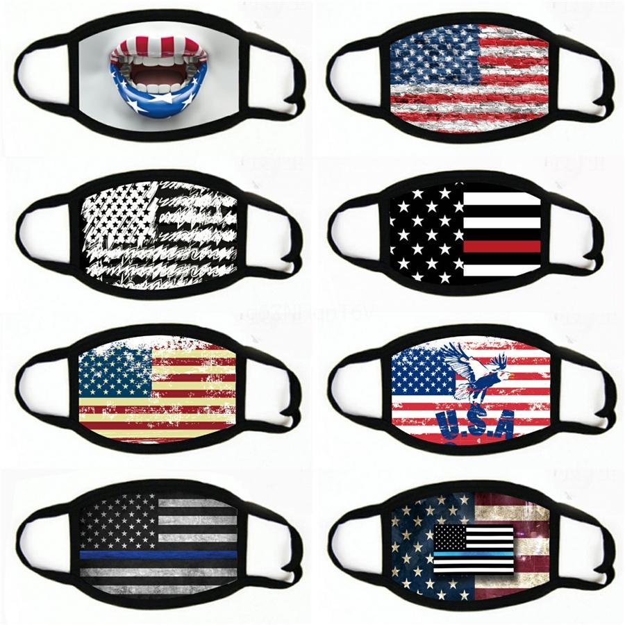 Suministros Mascarillas elección americana a prueba de polvo Imprimir Ciclismo Máscara Hombres bandera americana universal y mujeres máscara # 186