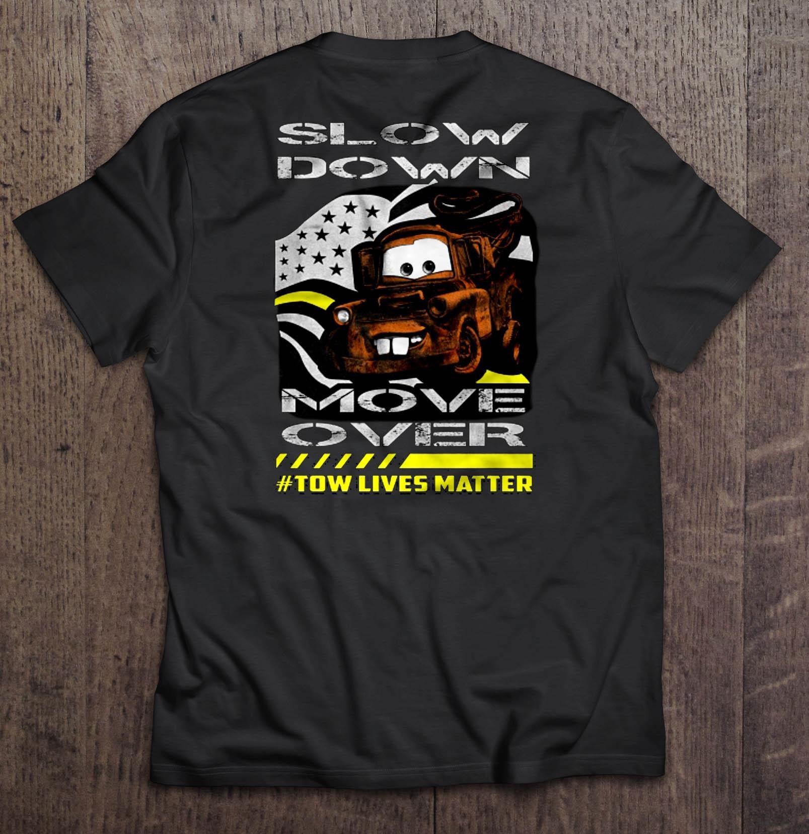 Мужчины Футболка Медленное движение вниз над буксирными жизни неважно Женщины футболку