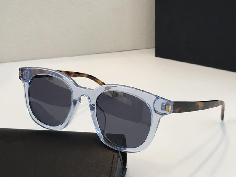 الجديدة 0312 مصمم الرجال النساء العلامة التجارية ساحة نظارات حماية UV400 مصمم عين القط نموذج كامل الإطار الأسود اللون الإطار تأتي مع حزمة