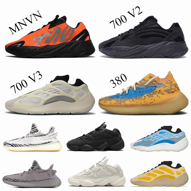 2020 Kanye West 700 Bayan Erkek Koşu Ayakkabıları Boyut US 13 Vanta 700 V3 Azael Azareth Mavi Yulaf 380 Zebra Beluga Eğitmenler Sneakers