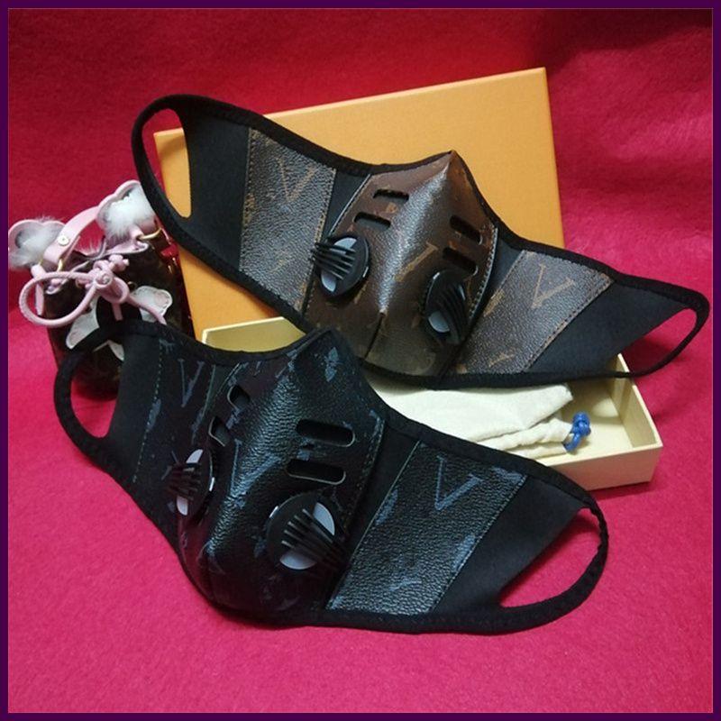 Unsiex Masque en cuir PU anti-poussière Respirez Masques de visage Mode Tendance design hommes bouche moufles Lavable Sports de plein air Cadeaux Masque de protection