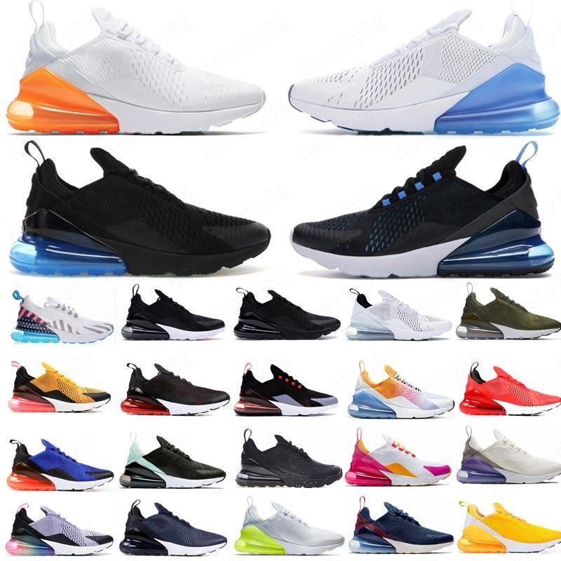 Gerileme Gelecek Erkekler Ayakkabı Splashing mürekkep Moda Erkekler Kadın Sneakers Koşu Bred 2020 yeni Üçlü Siyah Beyaz Kırmızı 270OG Moda Ayakkabılar