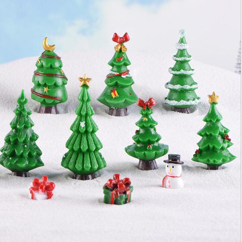 Lindo árbol de Navidad Árbol Terrario Accesorios de jardín de hadas Estatuillas de la casa de la casa de la muñeca de la muñeca Envío libre al por mayor