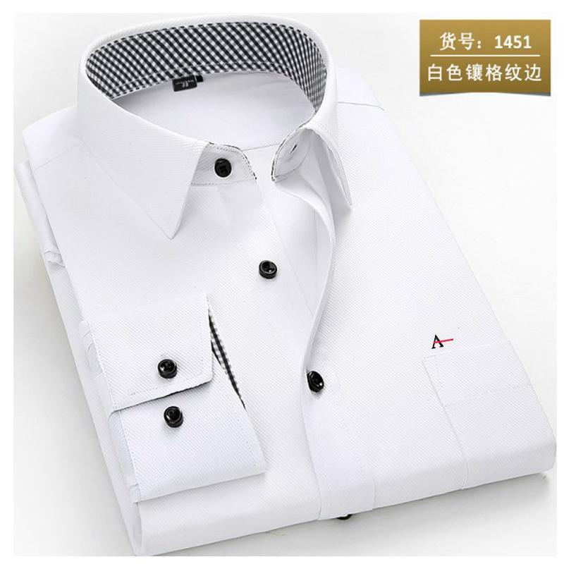 2020 reserva aramy Nova camisa dos homens Men manga comprida vestido de camisa de Moda Masculina de negócios Formal Wear escritório Trabalho Shirts camisa branca T200914