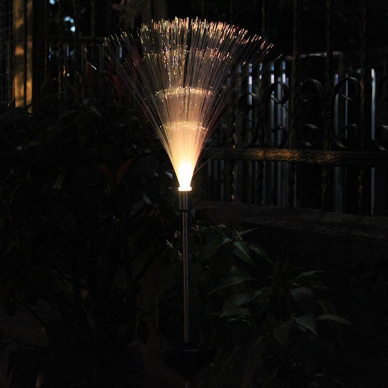 في الهواء الطلق للطاقة الشمسية الخفيفة الملونة التدرج الألياف الحديقة حديقة فيلا الديكور الأرضي بقيادة المناظر الطبيعية الخفيفة ليلة