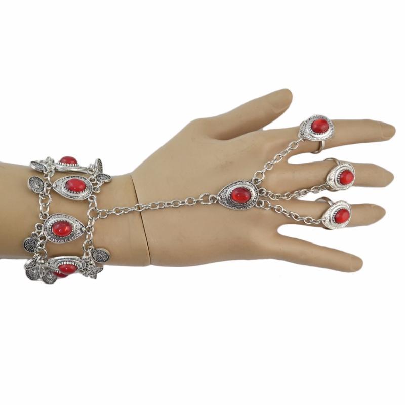 2020 Bracciali Dichiarazione turco Vintage link Nero Rosso Verde pietra per le donne Boho del partito Gypsy pulseras monili mujer