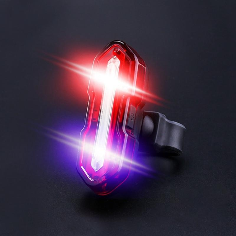 Bike Tail Light USB Rechargeable LED Bicycle Rear Light Multipurpose Ultra Bright Waterproof Bike Warning for Riding
