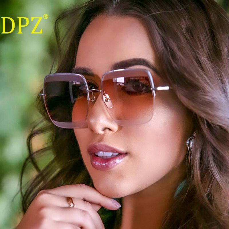 2020 cadre métal nouvelles lunettes de soleil hommes film océan dames personnalité demi-cadre parage des lunettes de soleil de mode