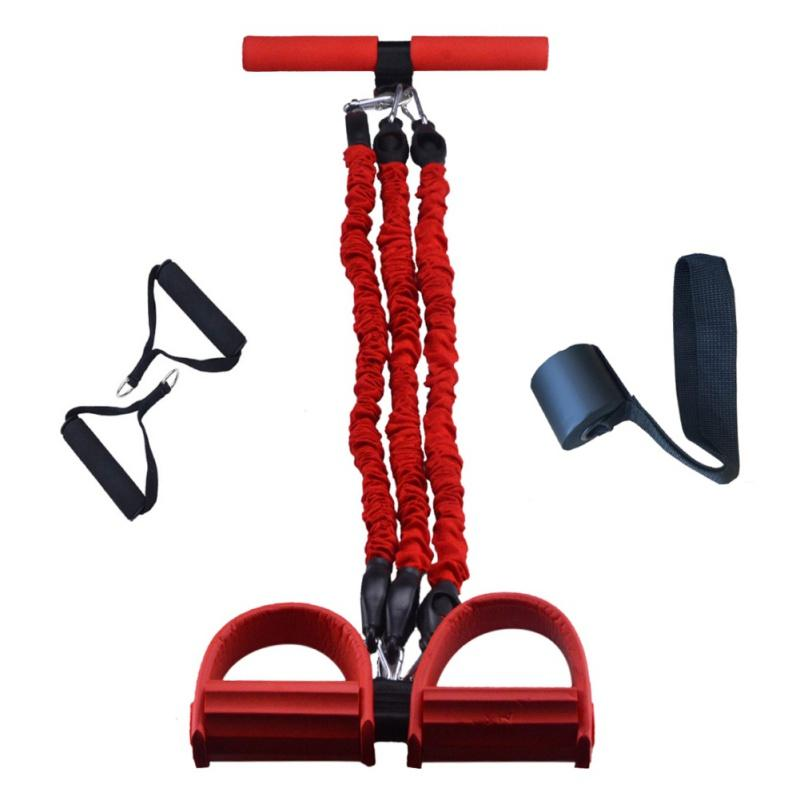 Резистические полосы Фитнес-оборудование Натяжное веревочное веревочное веревочное педаль латексной латексной педалью сидеть