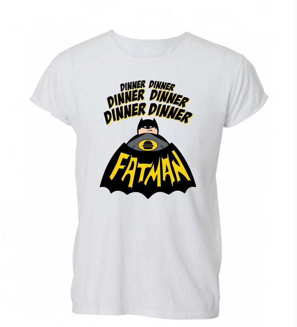 2019 Sommer-Mode für Männer T-Shirt Abendessen Abendessen Fatmans Batman Lustige Vati-T-Shirt der Frauen der Männer Geschenk T