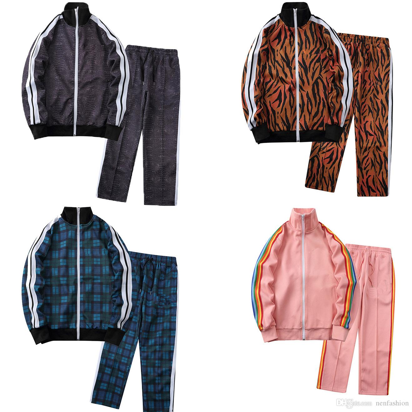 Diseñador de hombres Moda para hombre Tacksuit letra letra impresión primavera otoño mujer ropa deportiva de manga larga con cremallera tendencia de la calle Trend jogging Pantalones
