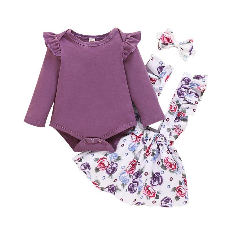 New Baby Girl Clothes Newborn Baby Girl Outfits Set Cute Infant Clothing Skirts Headband Spring Autumn
