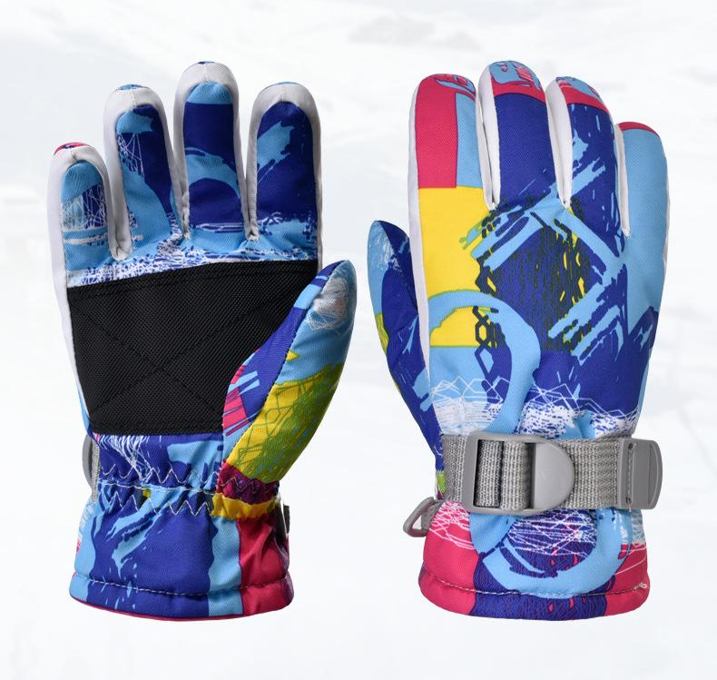 Guantes de invierno de la marca de los niños guantes de esquí caliente a prueba de viento guantes antideslizantes deportes al aire libre Niños Snowboard de la nieve del esquí para Niños Niñas