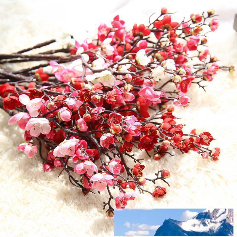60 cm Fleurs artificielles 4color Fleur de cerisier 10Pieces / lot Accueil Table Vase Bureau de soirée de mariage décoration florale Fausse plante