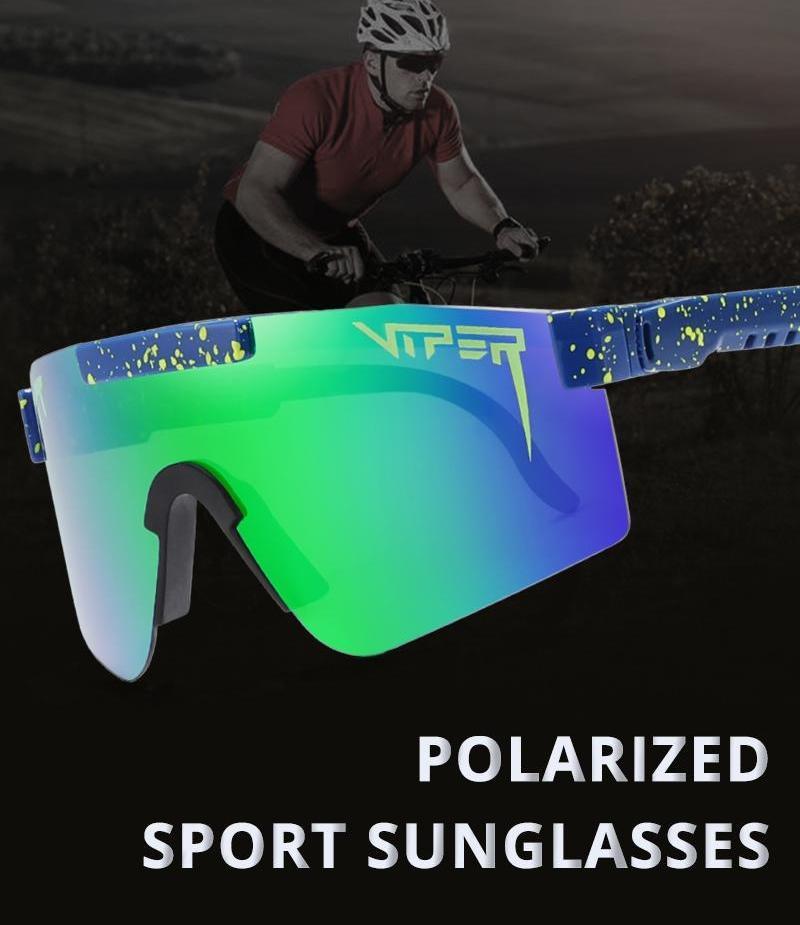 Hommes élégant surdimensionné TR90 polarisants Pit Viper Lunettes de soleil UV400 réglable Bouclier Gafas de sol Lens98 une pièce