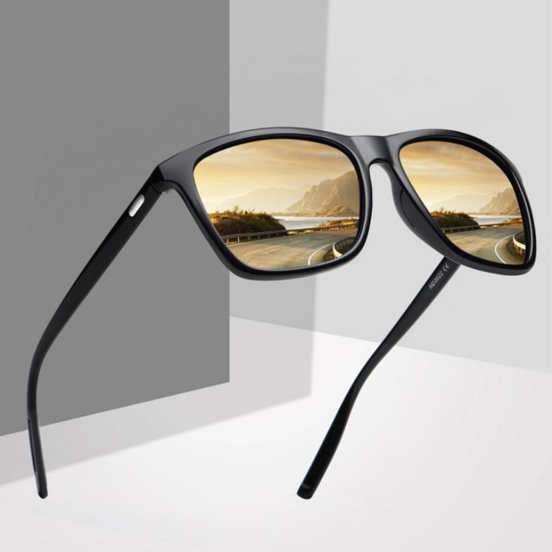 For Vintage Polaroid Sun Square Sunglases Unisex Glasses Sunglasses Sunglasses Retro Feminino Men Women Polarized Ddbfs