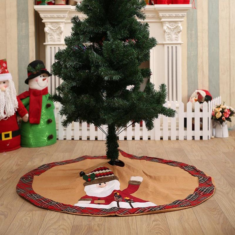 Christmas Tree Skirt Christmas Holiday Party Decoration Tree Dress Decoration