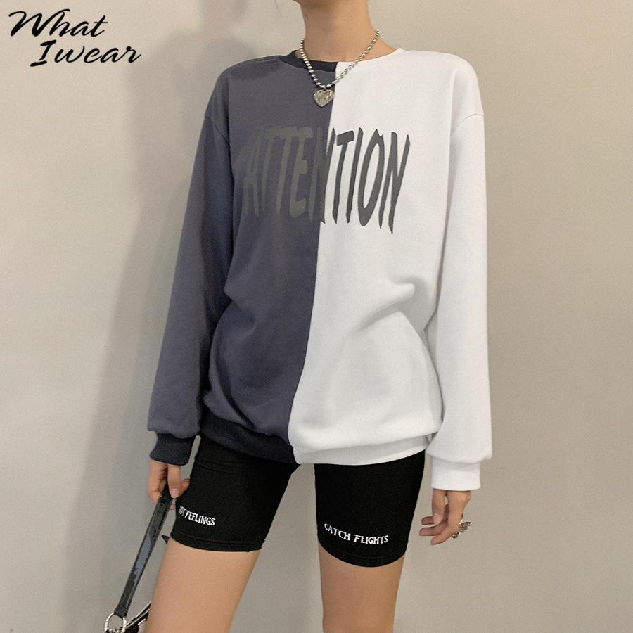 Women letter print hoodies Casual Thick warm sweatshirt Korean Style streetwear Fall Winter basic outfit kpop Hoodies for Women T200917