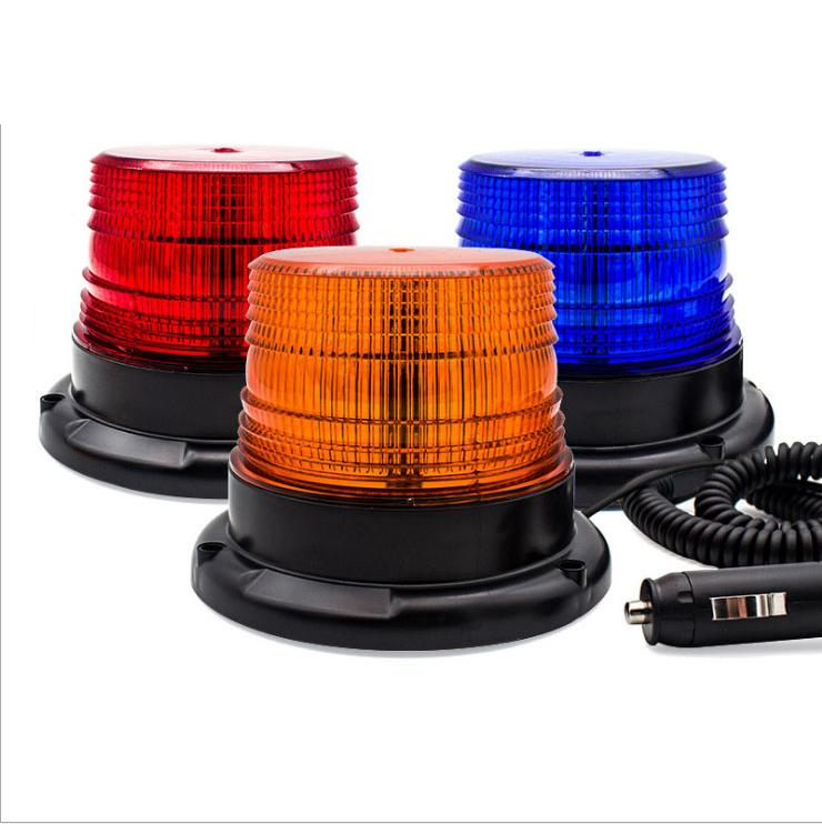 Impermeabile Led Spia per i camion Beacon Lights Evidenziare 12V / 24V di attrazione magnetica Strobe Light emergenza