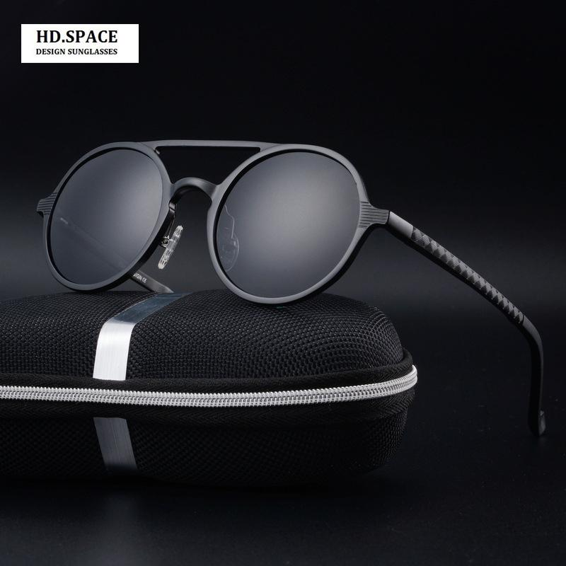 la moda di magnesio alluminio uomini di alta qualità rotonda occhiali da sole polarizzati lunette de soleil homme occhiali da sole rotondi uomini