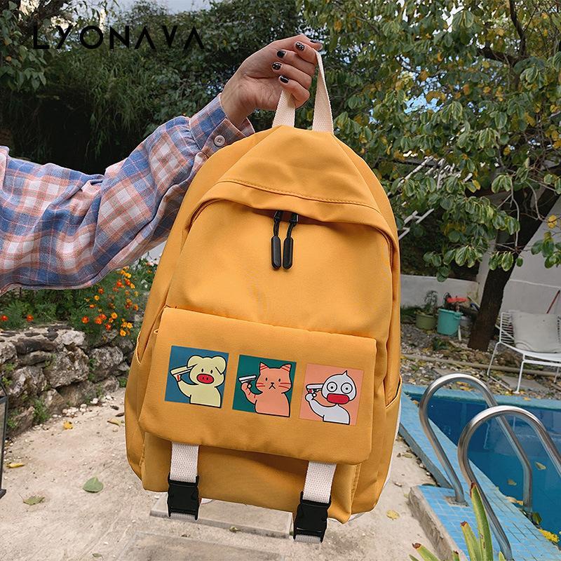Pequena mochila Mulheres 2020 Marca New Fashion College Feminino Estilo Estudantes school bolsas dos desenhos animados Mochilas de impressão para Adolescentes