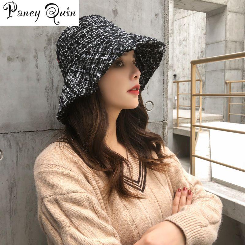 cappelli invernali nuovo ultimo caps bacino griglia cappelli delle donne eleganti beanie tappi cappello della benna femminile britannico retrò Autunno Inverno Bacino Cap