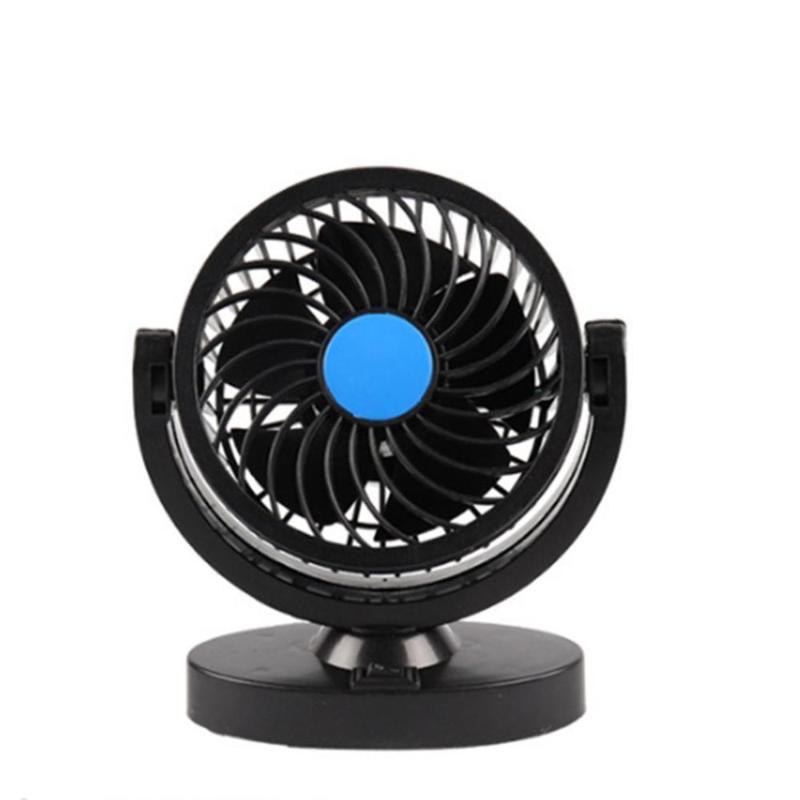 12 / 24V Araç Fan All-Yuvarlak Taşınabilir Araç Araç Kamyon Hava Fanı Ayarlanabilir Cooler Soğutma Aksesuarları Çift başlı