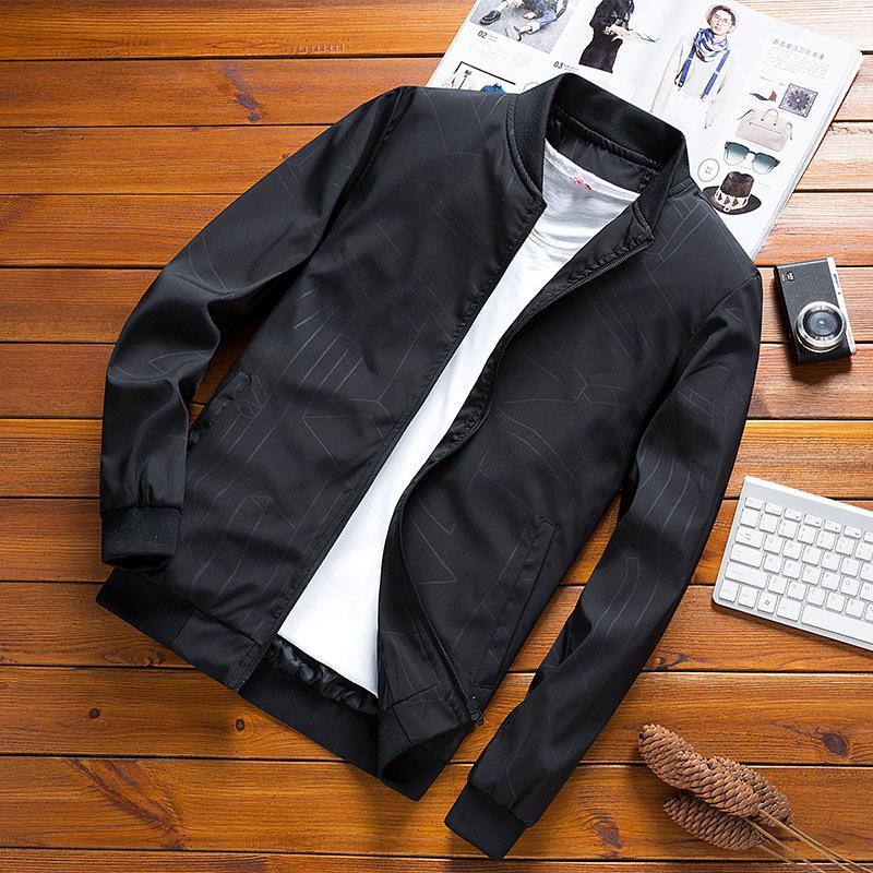 Casual Slim Fit Ceket Erkekler Sonbahar İlkbahar Moda Kore Stil Streetwear Coat Ceket Dış Mekan Marka Erkek Giyim 2020