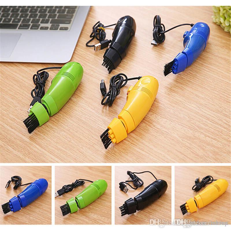 صغيرة محمولة لوحة مفاتيح الكمبيوتر مكانس كهربائية USB منظف لوحة المفاتيح كمبيوتر محمول فرشاة تنظيف الغبار جودة عالية
