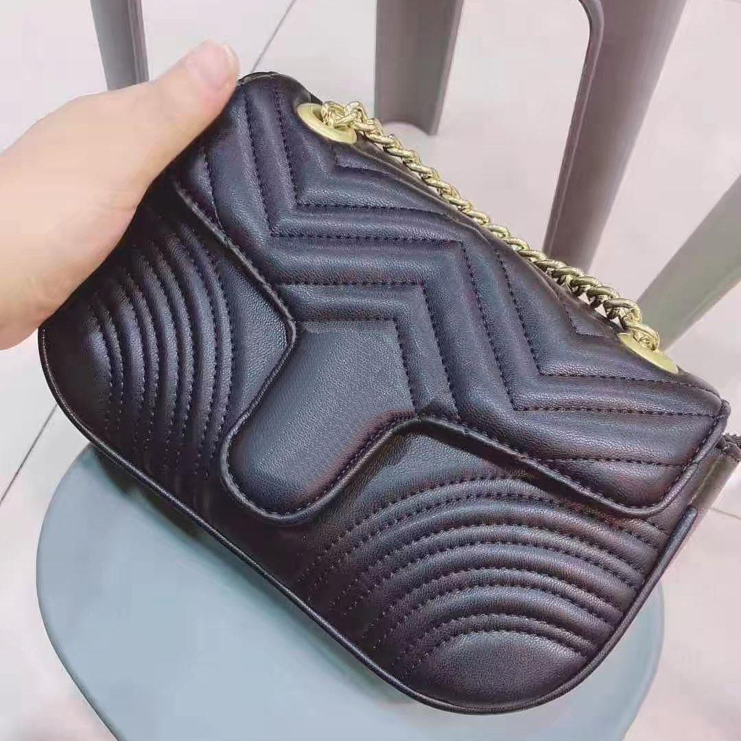 Mais recente bolsa sacos de diamante flap bolsa de bolsa de qualidade geométrica xadrez handbag cadeia bolsas crossbody ombro laser saco alto qcigv