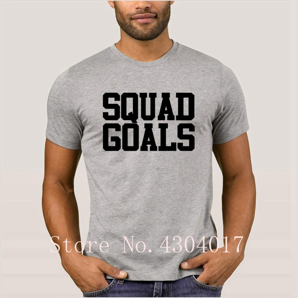 Squad Obiettivi T-shirt regolare Umorismo T shirt di colore solido Camisetas 100% cotone Funky Pop Top Tee
