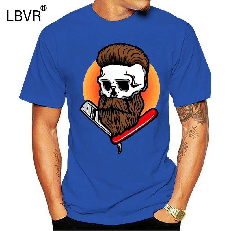 Crânio Canivete Beard homens de T -Image por Tops Nova Unisex engraçado camiseta