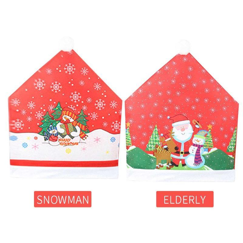 Chair Cover Red Restaurant Ornaments Table Santa Claus Christmas Christmas Chair Cover New Year Dinner Home Decoration