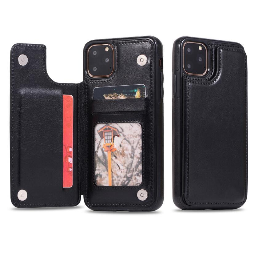 Premium Leather Cover For iPhone 11 Pro XR XS Max 6 6s 7 8 Plus 5S Wallet Case Card Slots Shockproof