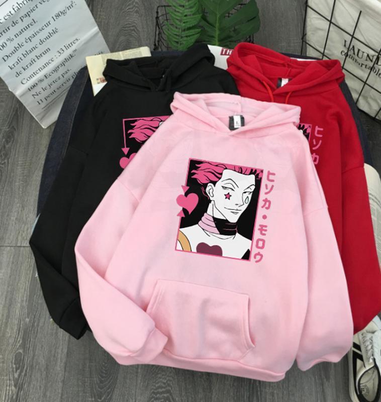 Hisoka Morow Neu - X Winter-Pullover lose Sweatshirt Frau Harajuku Kawaii Brief Langarm Pullover Hoody Tops