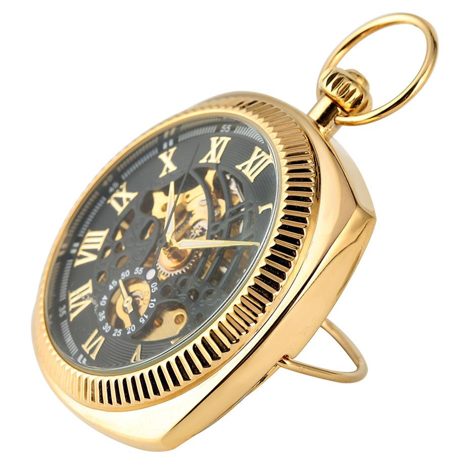 골동품 기계 시계 줄 체인 새로운 도착 포켓 펜던트 시계를 표시 회중 시계 럭셔리 로마 숫자를 손 권선 2019 T200502