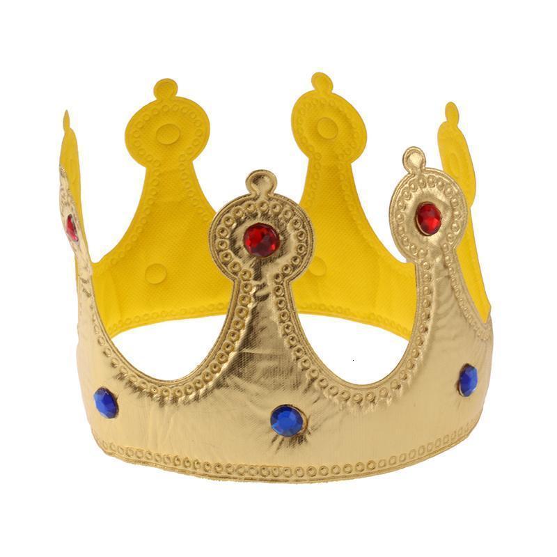 2 colori Birthday Girl regina cappello Ragazzi re bambini party i cappelli adulti Decorazione Crown Forniture d'argento dorata A35