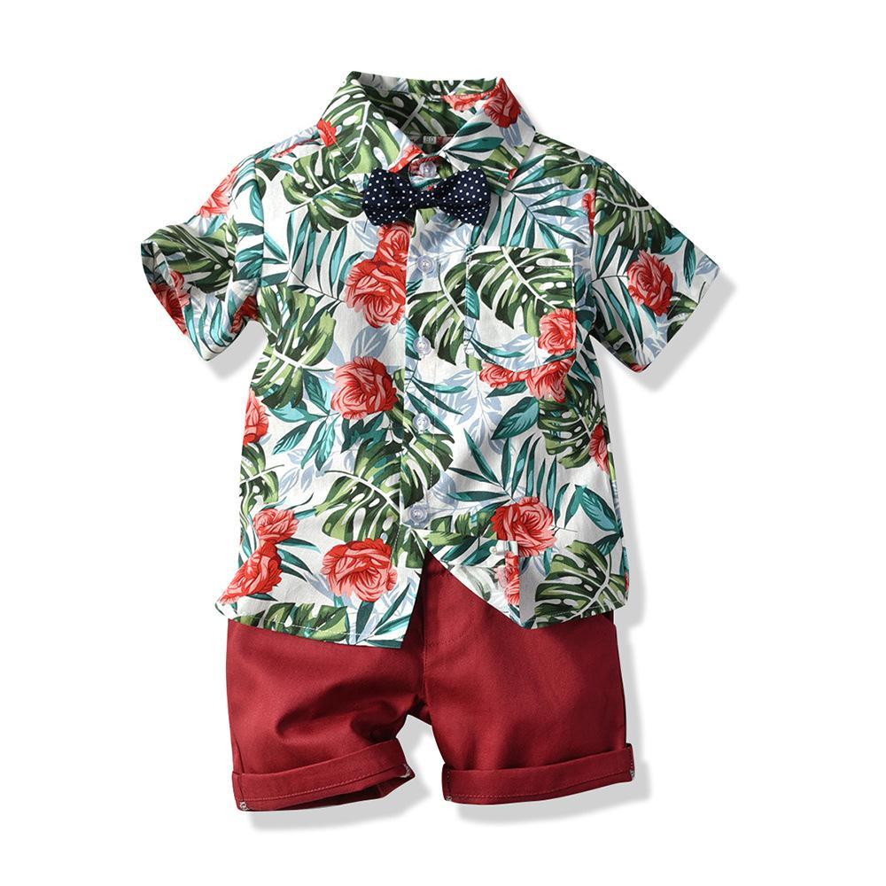 set per bambini 2020 nuovi stampa Moda Bambino abiti estivi multicolore pantaloncini fiore a maniche corte cardigan casuali